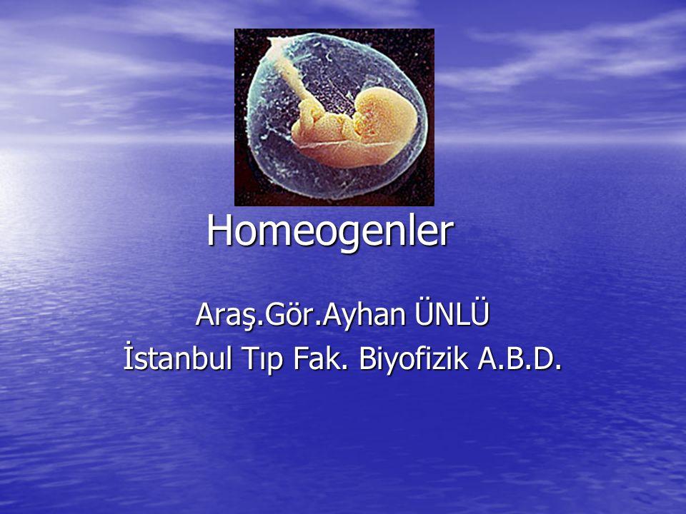Araş.Gör.Ayhan ÜNLÜ İstanbul Tıp Fak. Biyofizik A.B.D.