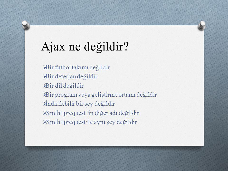 Ajax ne değildir Bir futbol takımı değildir Bir deterjan değildir