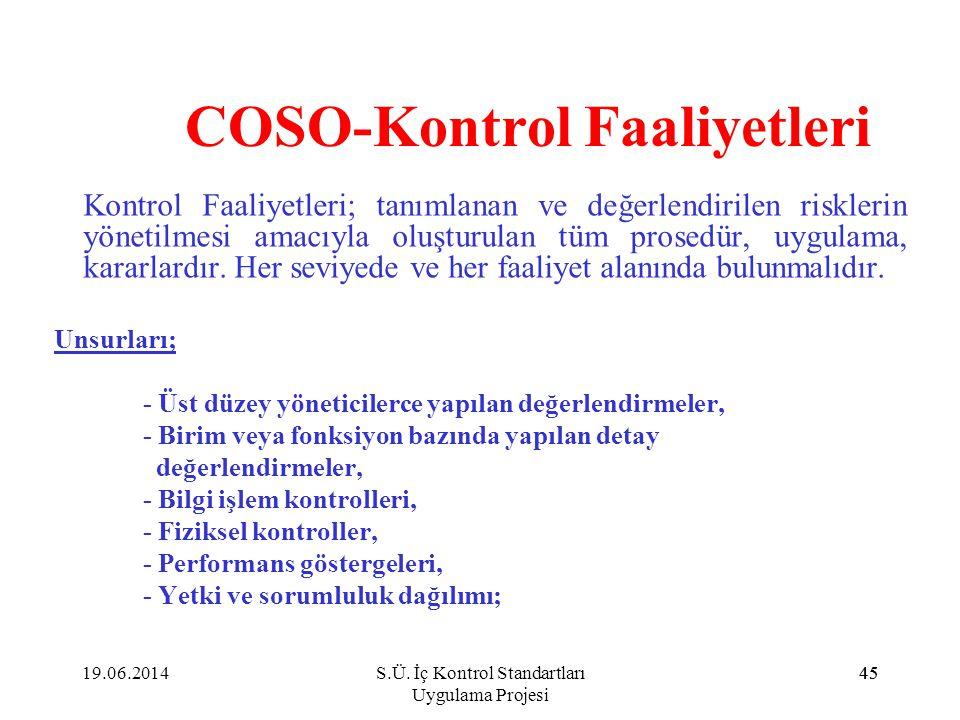 COSO-Kontrol Faaliyetleri