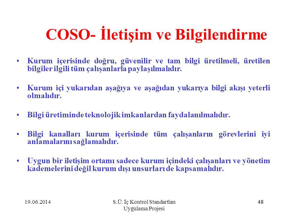 COSO- İletişim ve Bilgilendirme