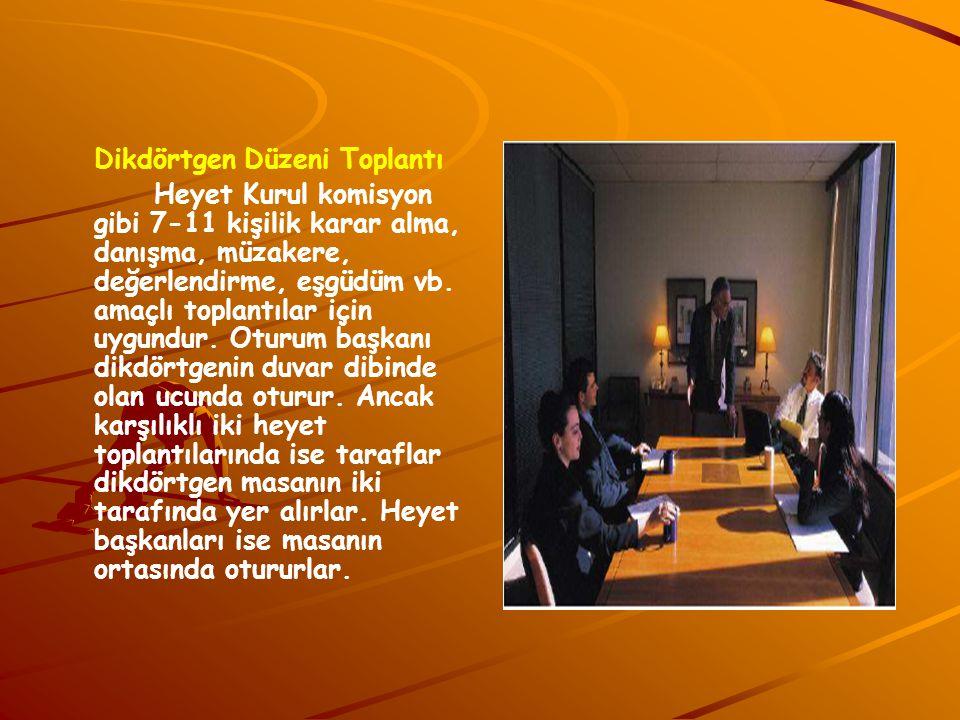 Dikdörtgen Düzeni Toplantı