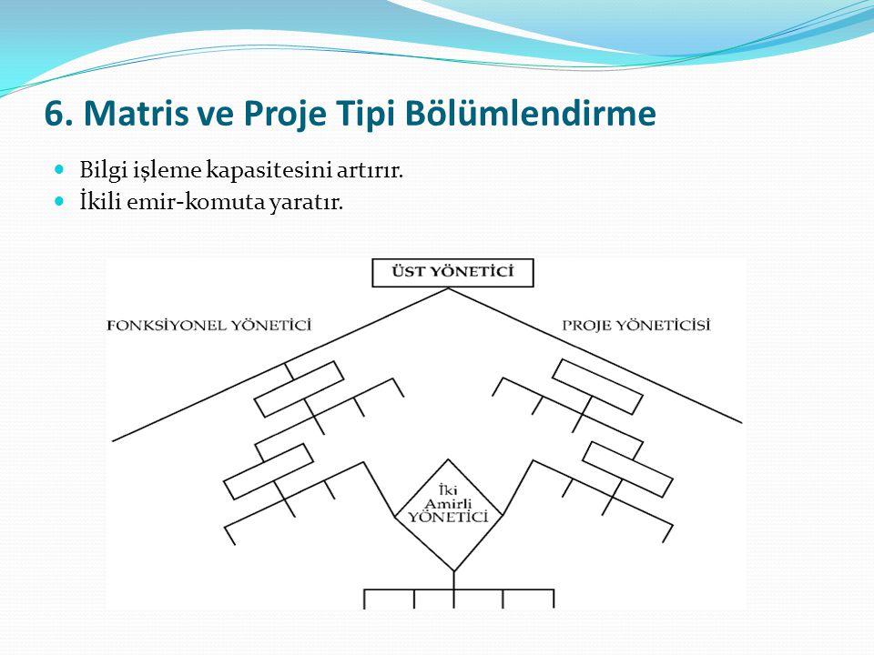 6. Matris ve Proje Tipi Bölümlendirme