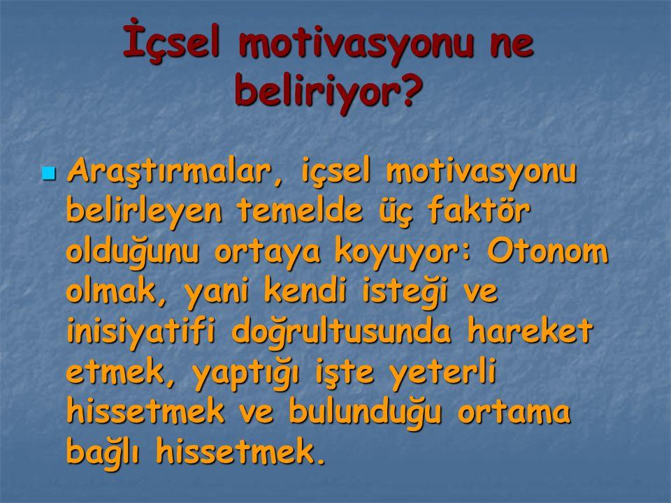 İçsel motivasyonu ne beliriyor