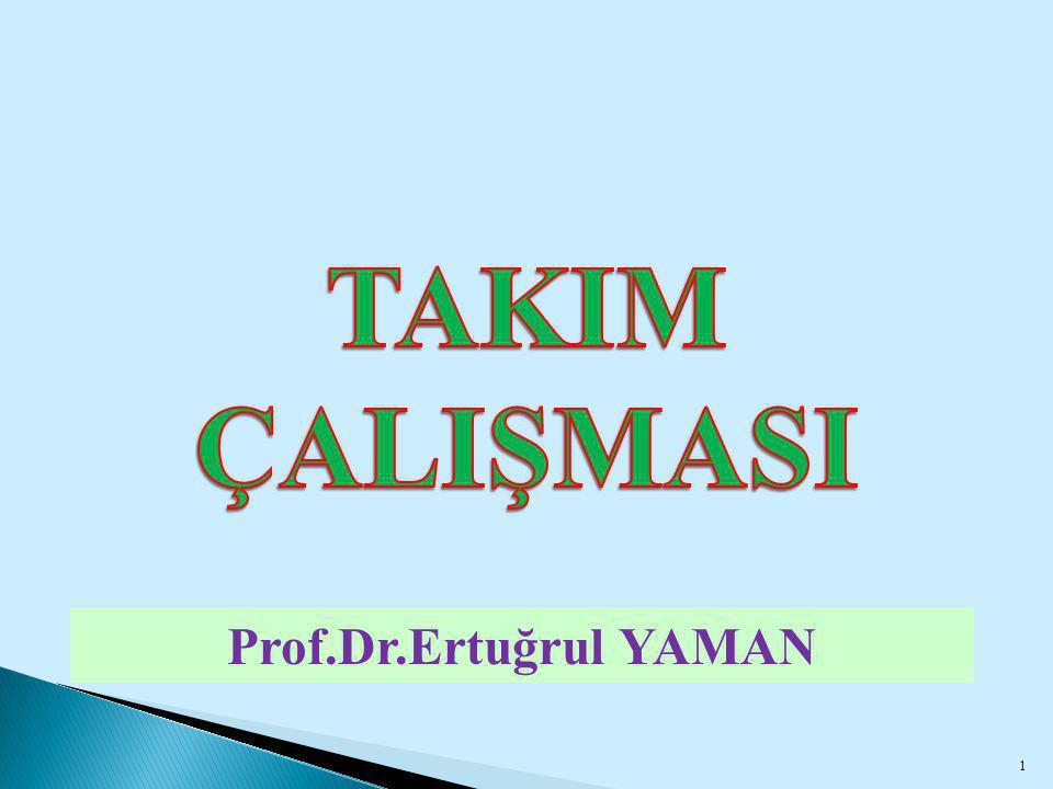 TAKIM ÇALIŞMASI Prof.Dr.Ertuğrul YAMAN