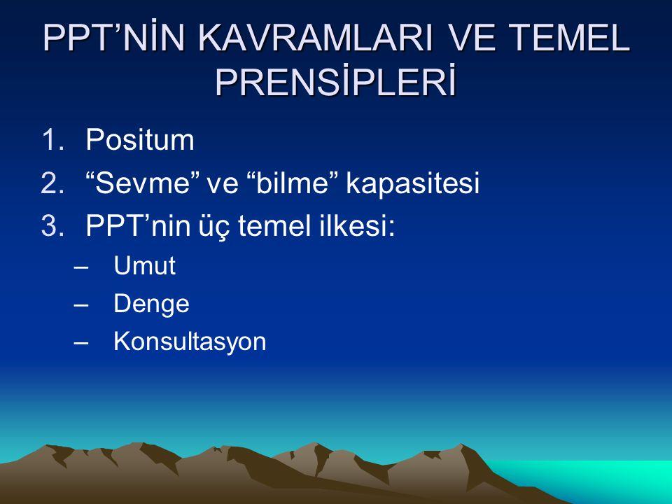 PPT'NİN KAVRAMLARI VE TEMEL PRENSİPLERİ