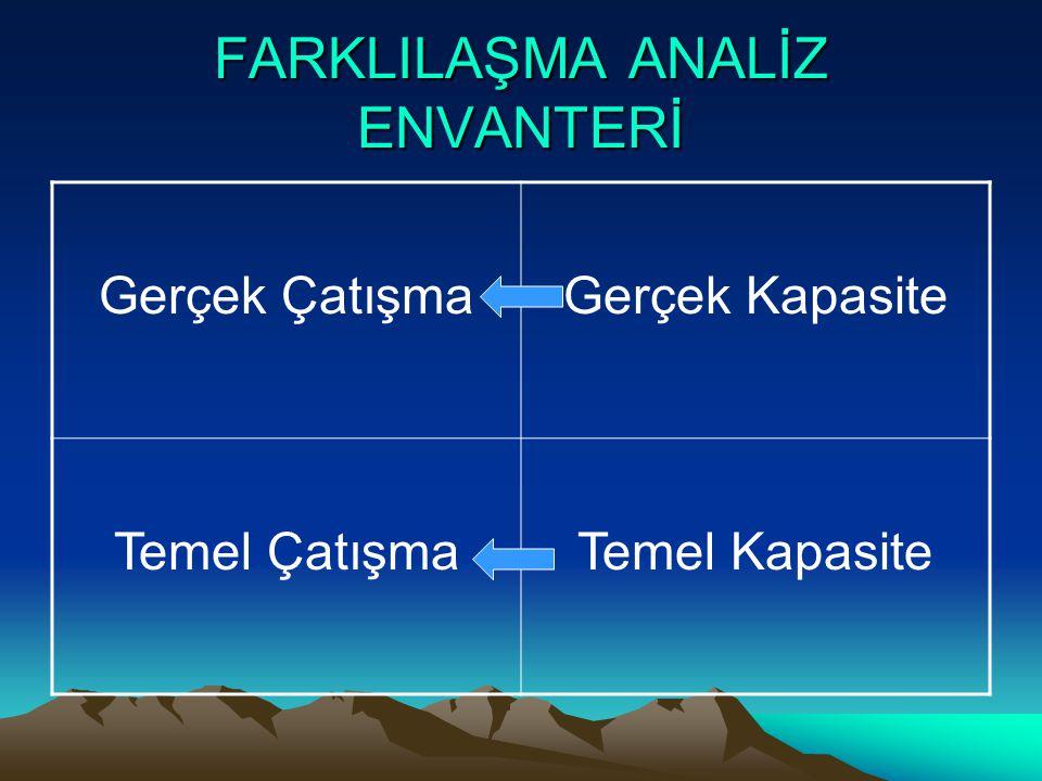 FARKLILAŞMA ANALİZ ENVANTERİ