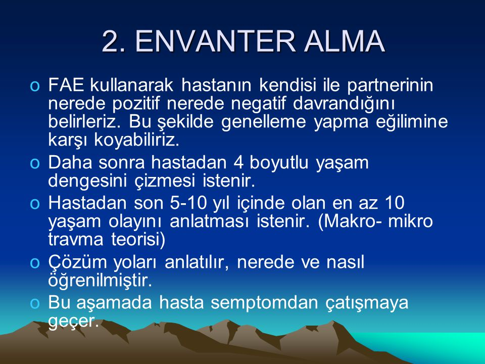 2. ENVANTER ALMA