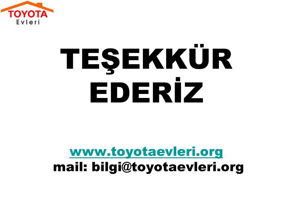 TEŞEKKÜR EDERİZ www.toyotaevleri.org mail: bilgi@toyotaevleri.org