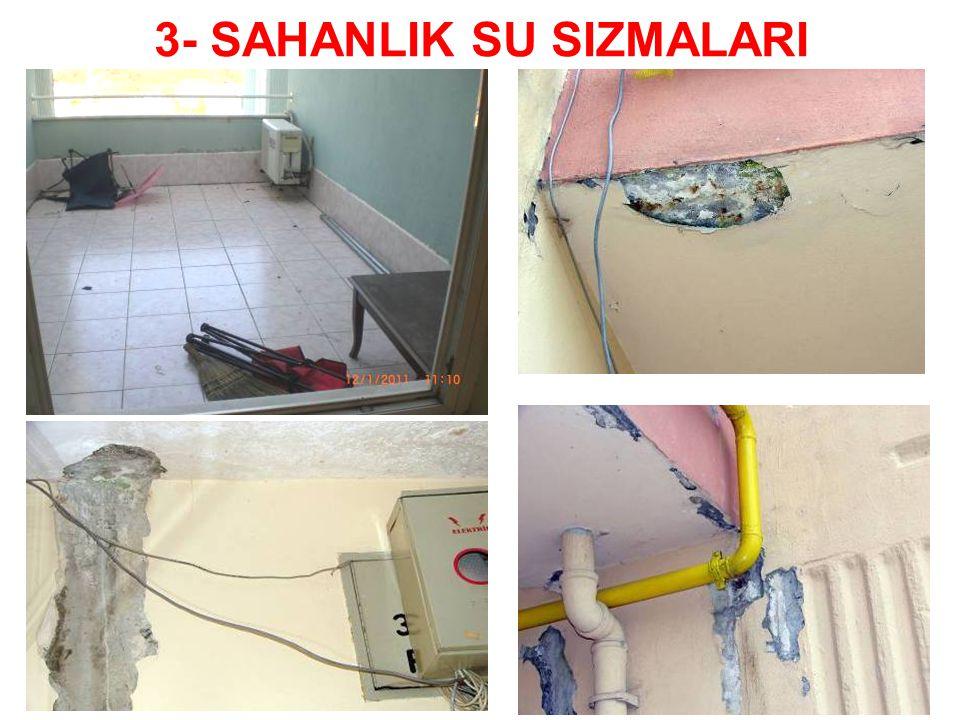 3- SAHANLIK SU SIZMALARI