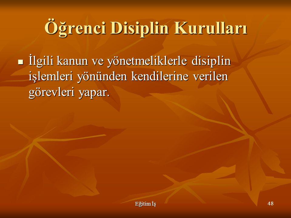 Öğrenci Disiplin Kurulları