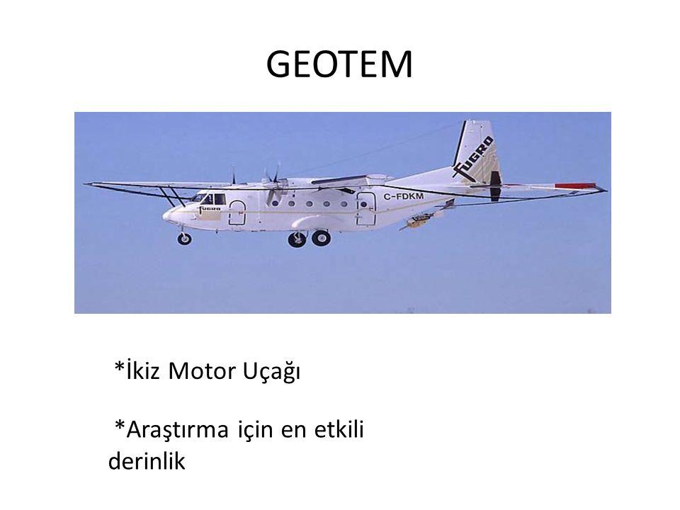 GEOTEM *İkiz Motor Uçağı *Araştırma için en etkili derinlik
