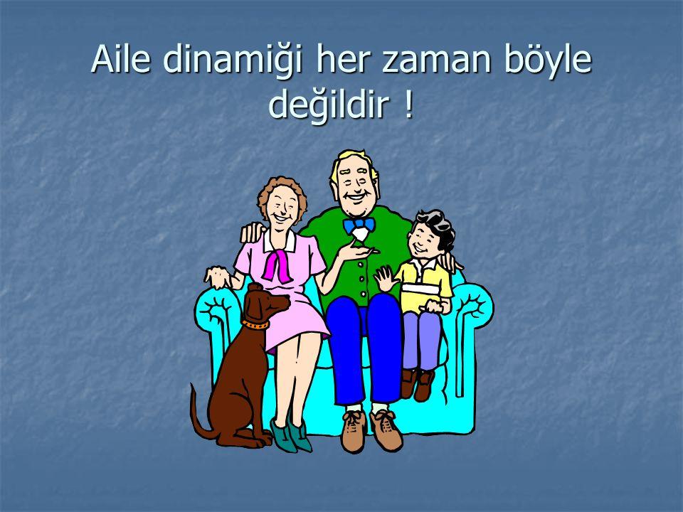 Aile dinamiği her zaman böyle değildir !