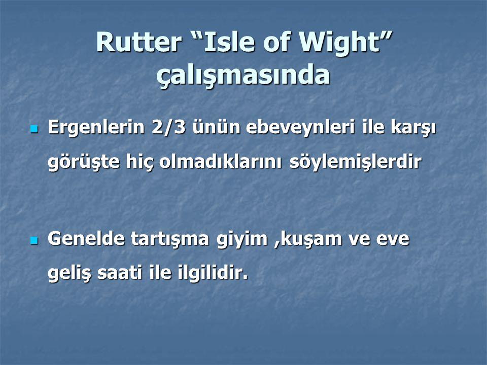 Rutter Isle of Wight çalışmasında