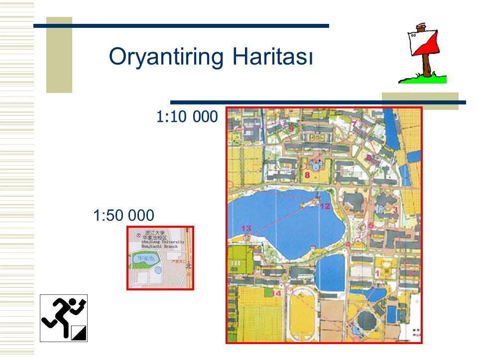 Oryantiring Haritası 1:10 000 1:50 000