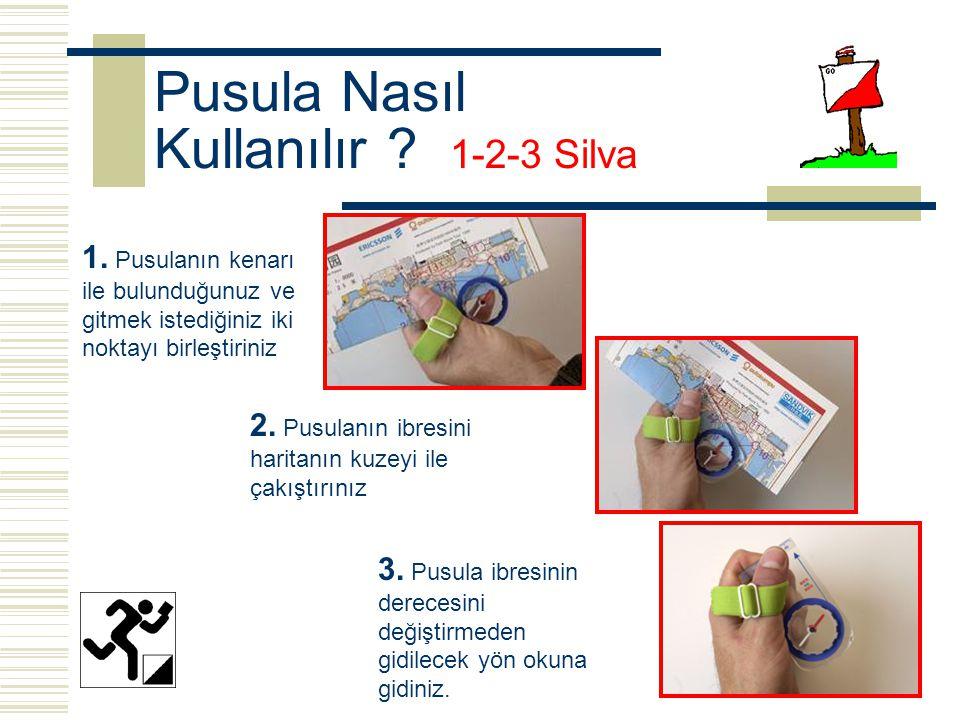 Pusula Nasıl Kullanılır 1-2-3 Silva