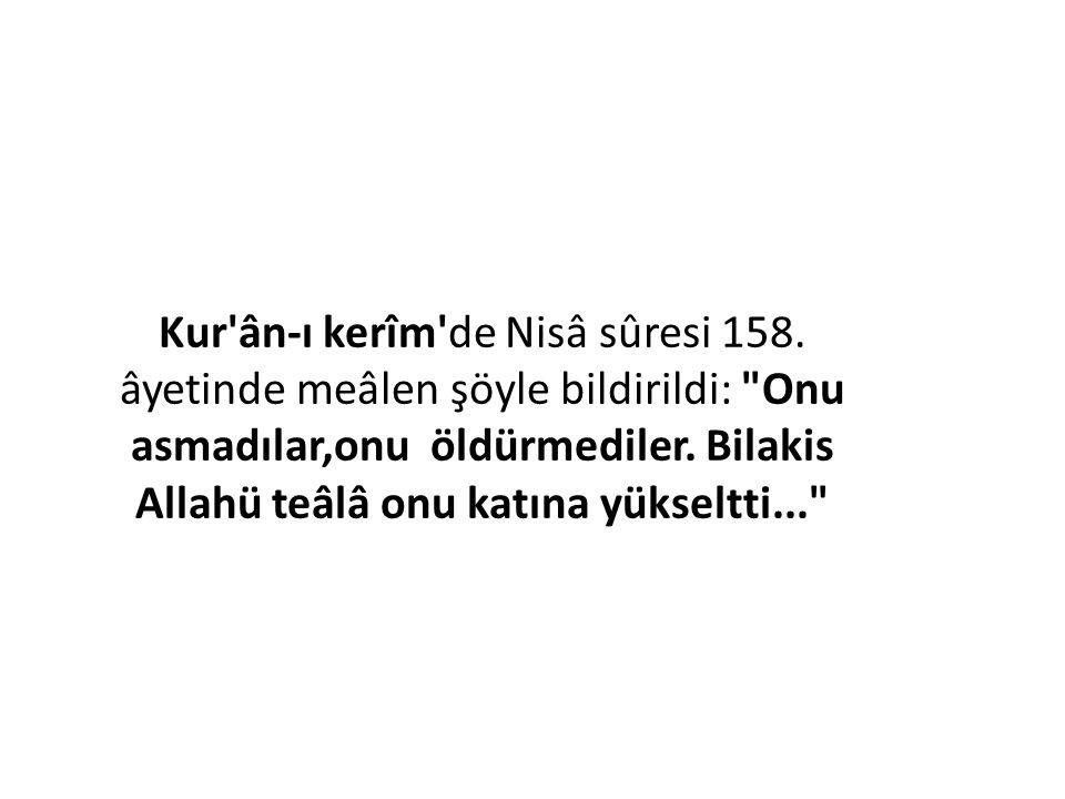 Kur ân-ı kerîm de Nisâ sûresi 158
