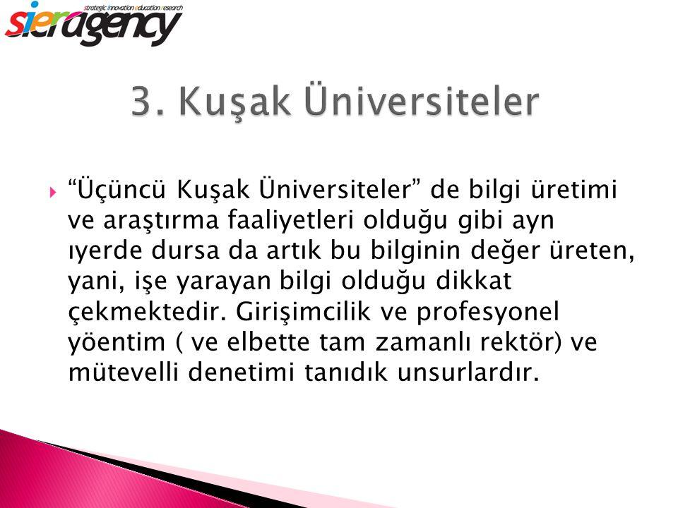 3. Kuşak Üniversiteler
