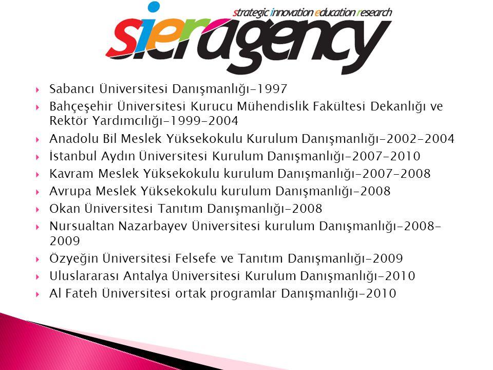 Sabancı Üniversitesi Danışmanlığı-1997
