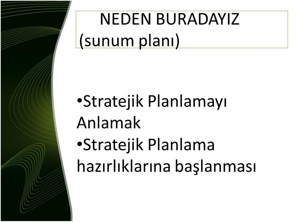 NEDEN BURADAYIZ (sunum planı)