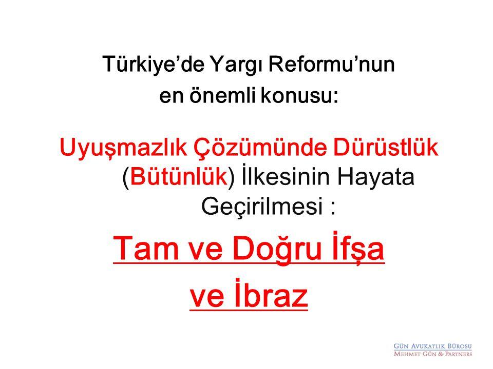 Türkiye'de Yargı Reformu'nun
