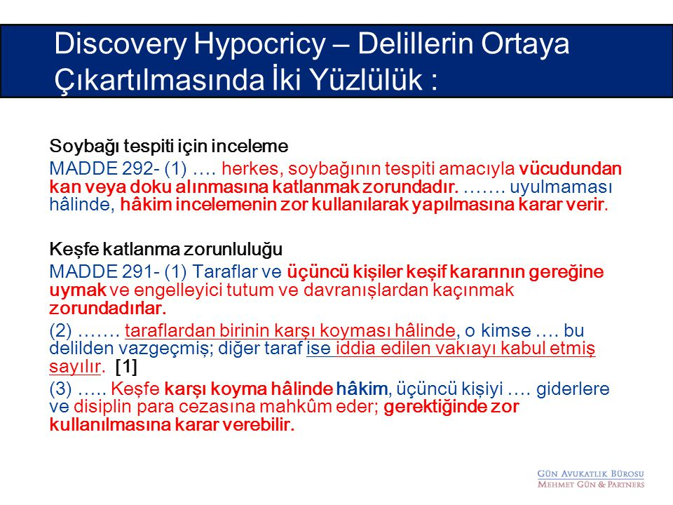 Discovery Hypocricy – Delillerin Ortaya Çıkartılmasında İki Yüzlülük :