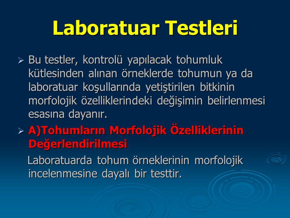 Laboratuar Testleri