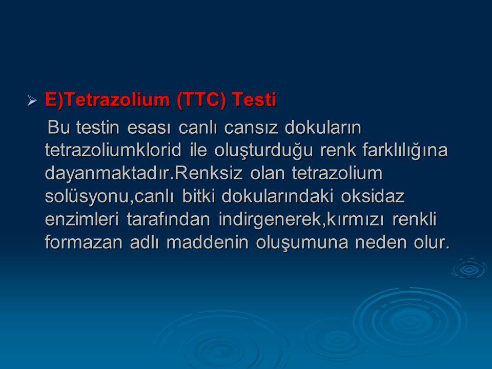 E)Tetrazolium (TTC) Testi