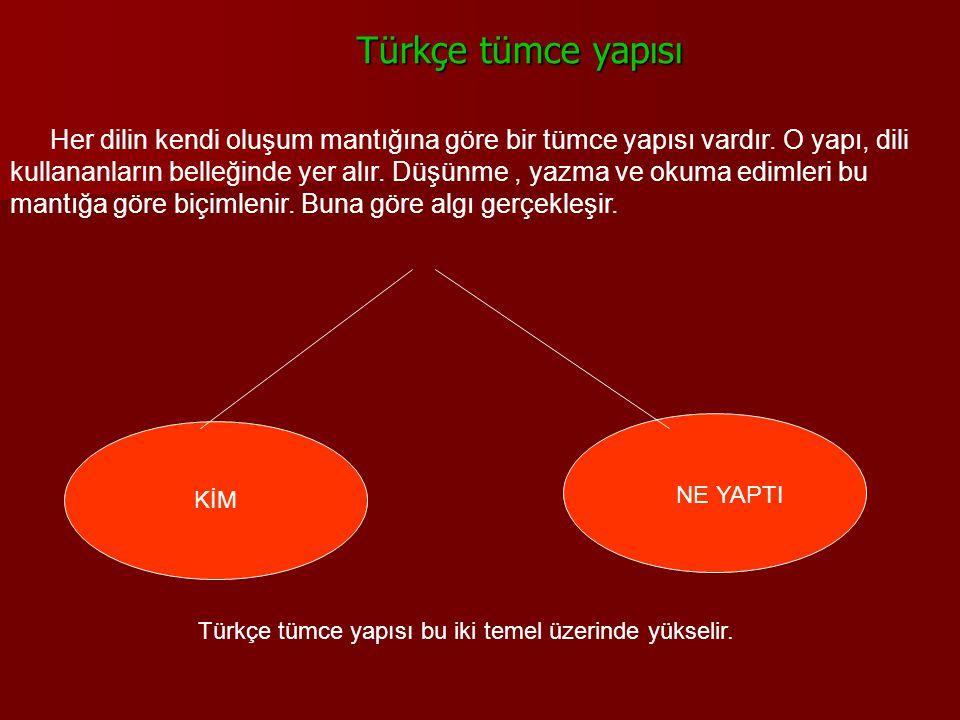 Türkçe tümce yapısı