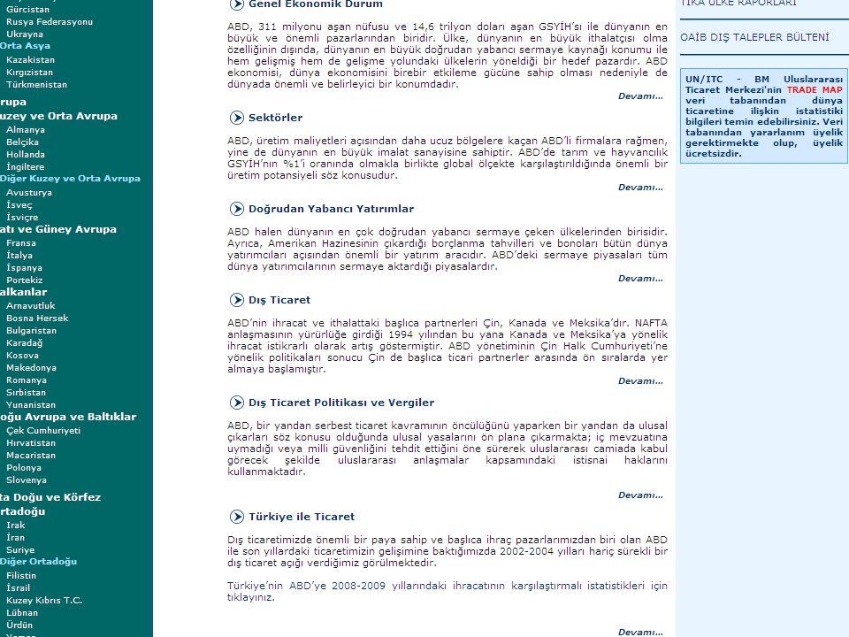 ÜLKE MASALARI T. C. EKONOMİ BAKANLIĞI 25