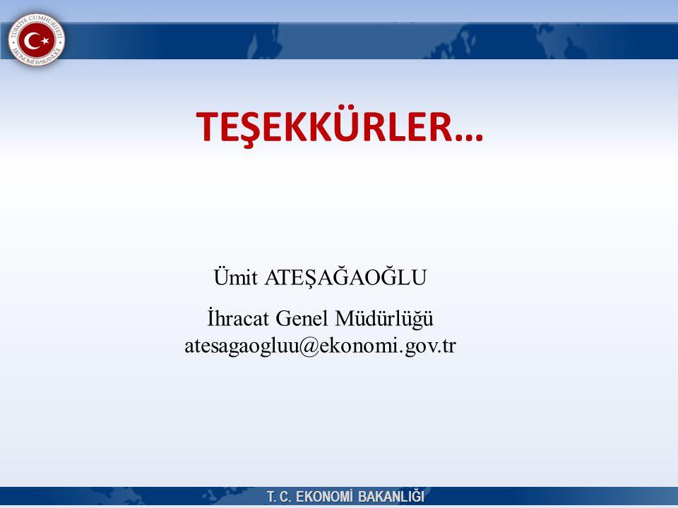 İhracat Genel Müdürlüğü atesagaogluu@ekonomi.gov.tr