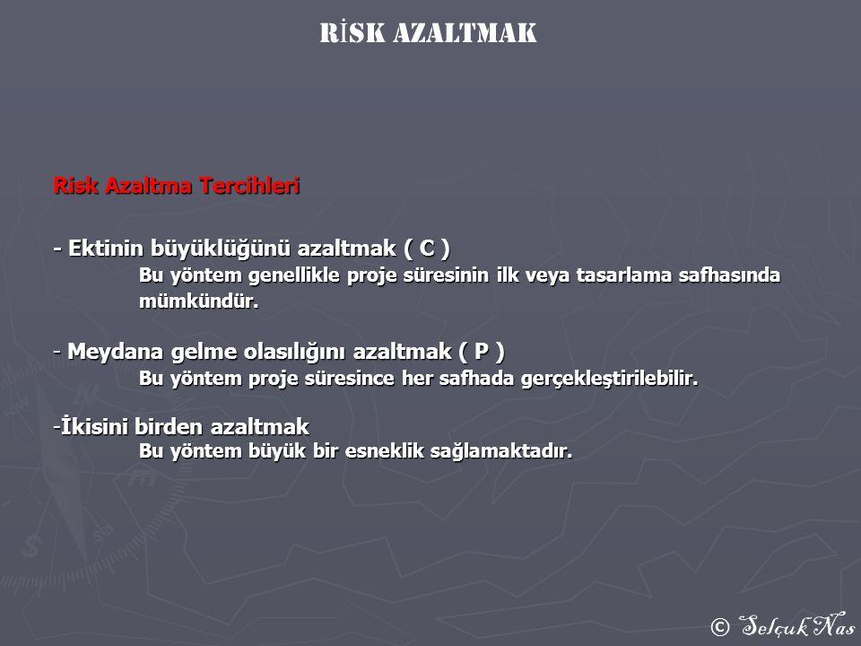 rİsk azaltmak Risk Azaltma Tercihleri