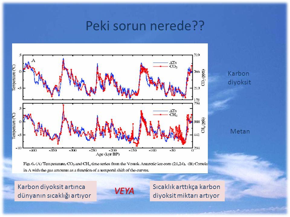 Peki sorun nerede VEYA Karbon diyoksit Metan