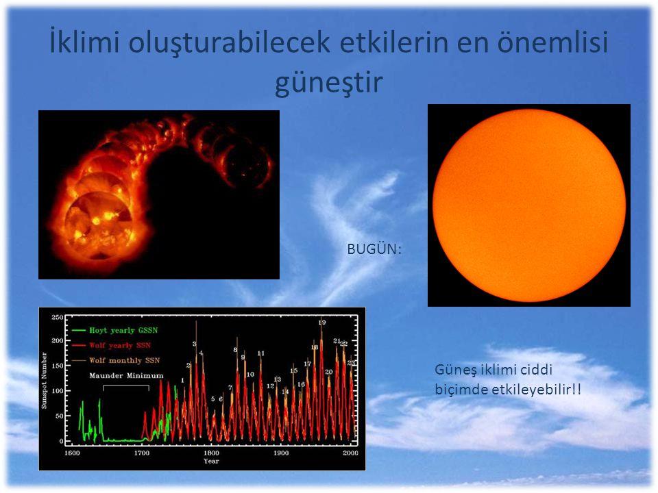 İklimi oluşturabilecek etkilerin en önemlisi güneştir