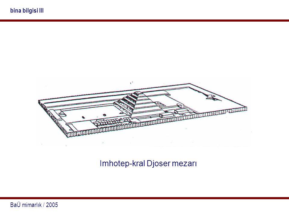 Imhotep-kral Djoser mezarı