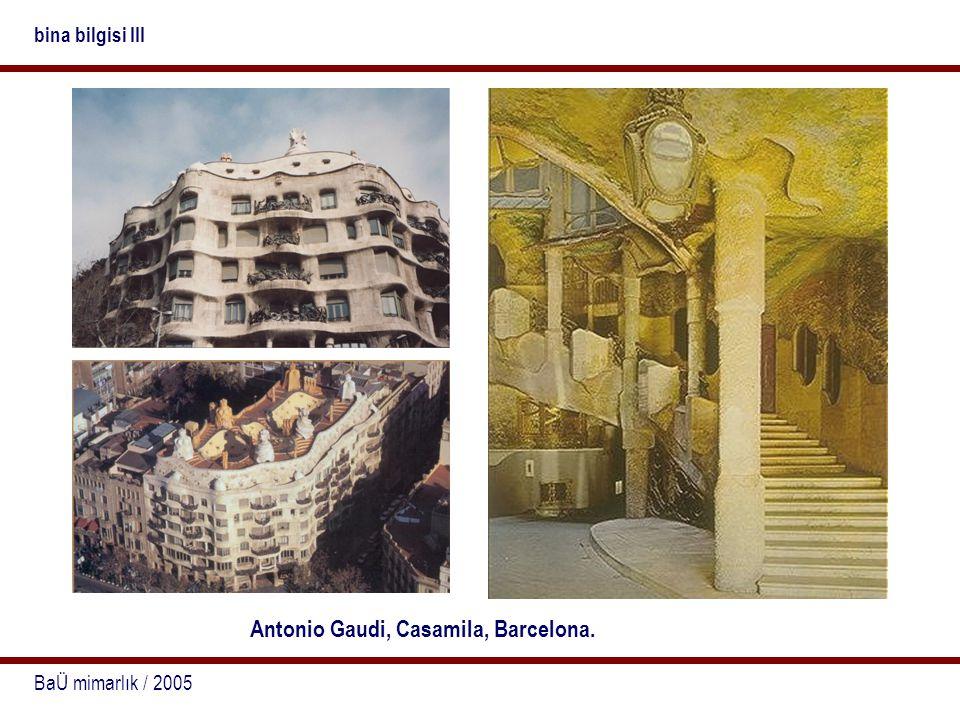 Antonio Gaudi, Casamila, Barcelona.