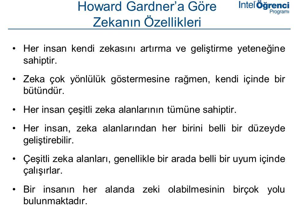 Howard Gardner'a Göre Zekanın Özellikleri