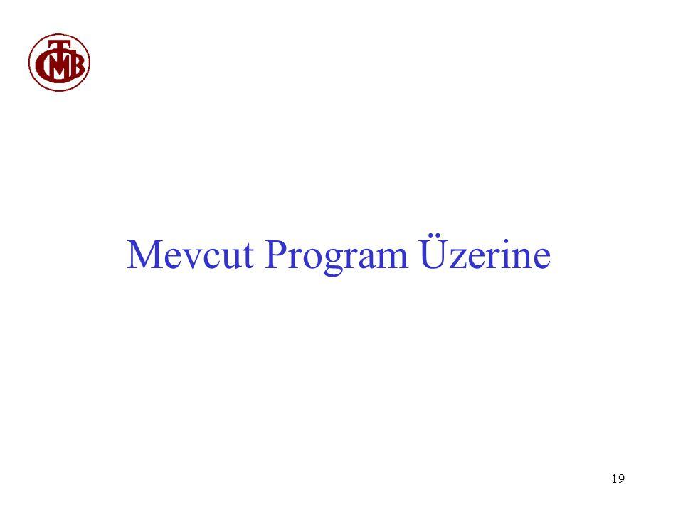 Mevcut Program Üzerine