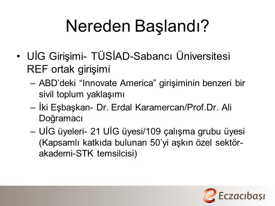 Nereden Başlandı UİG Girişimi- TÜSİAD-Sabancı Üniversitesi REF ortak girişimi.