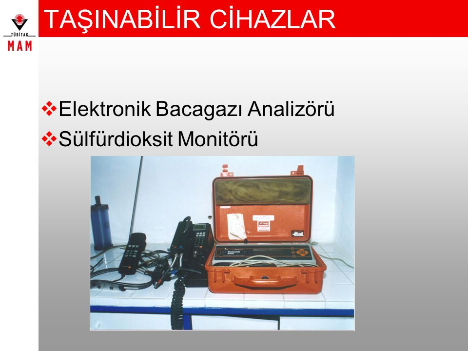 TAŞINABİLİR CİHAZLAR Elektronik Bacagazı Analizörü
