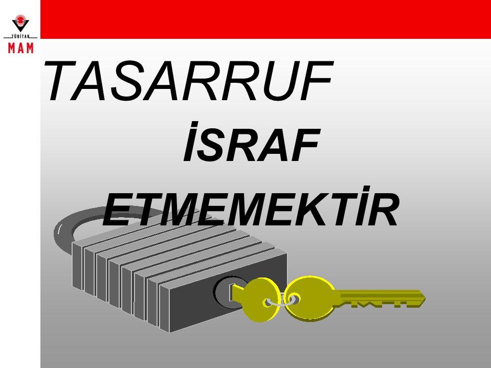 TASARRUF İSRAF ETMEMEKTİR