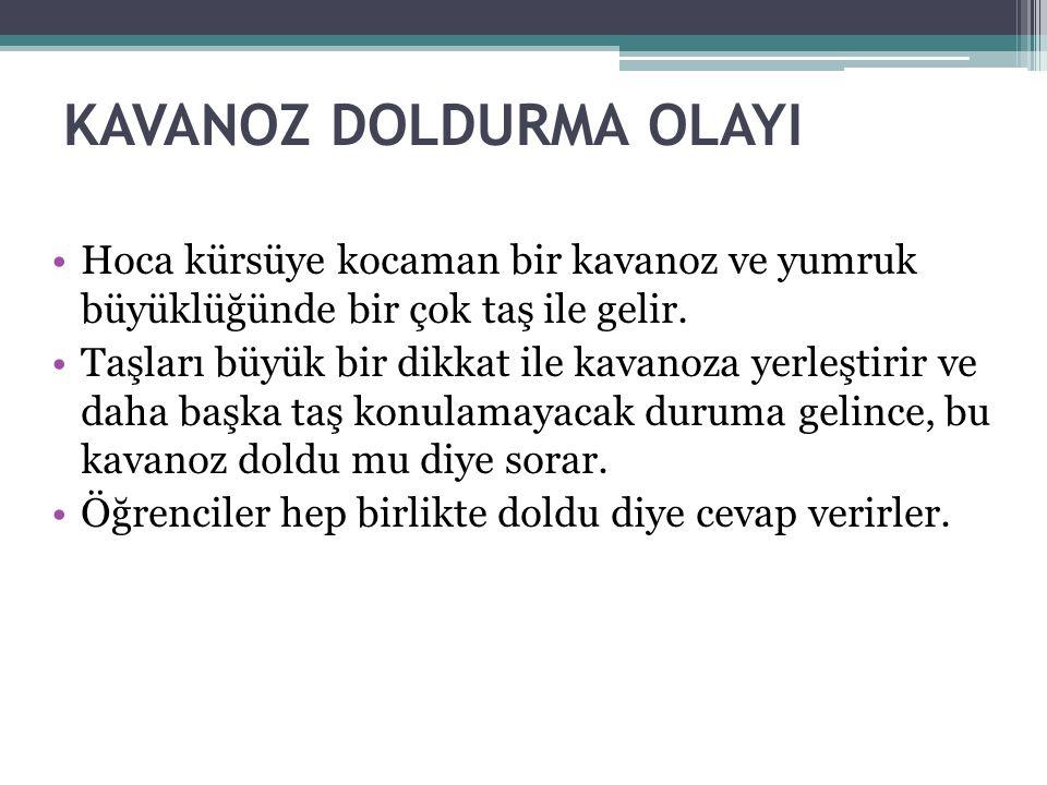 KAVANOZ DOLDURMA OLAYI