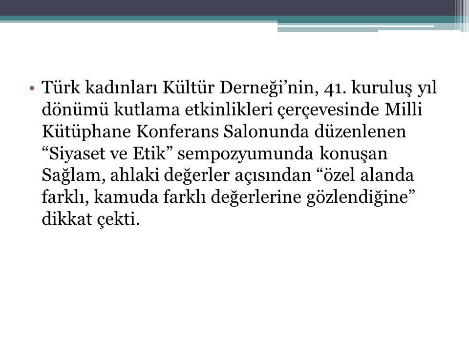 Türk kadınları Kültür Derneği'nin, 41