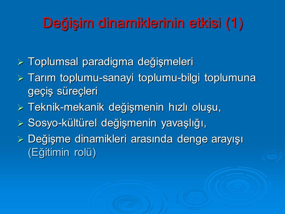 Değişim dinamiklerinin etkisi (1)