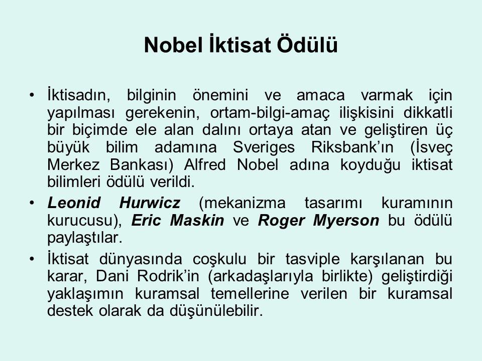 Nobel İktisat Ödülü