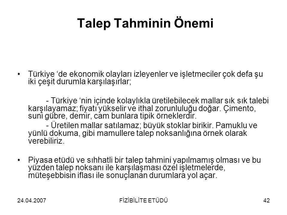 Talep Tahminin Önemi Türkiye 'de ekonomik olayları izleyenler ve işletmeciler çok defa şu iki çeşit durumla karşılaşırlar;