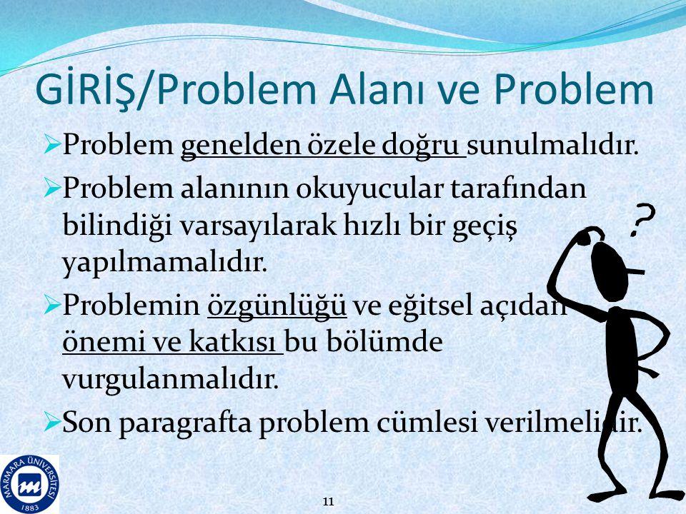 GİRİŞ/Problem Alanı ve Problem