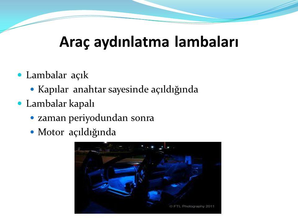 Araç aydınlatma lambaları