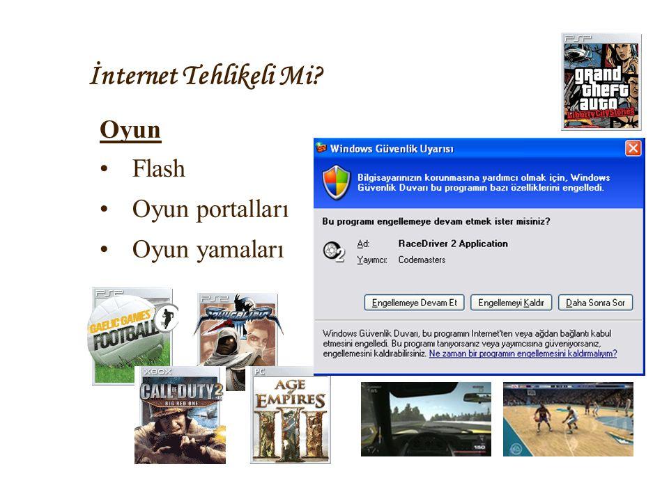 İnternet Tehlikeli Mi Oyun Flash Oyun portalları Oyun yamaları