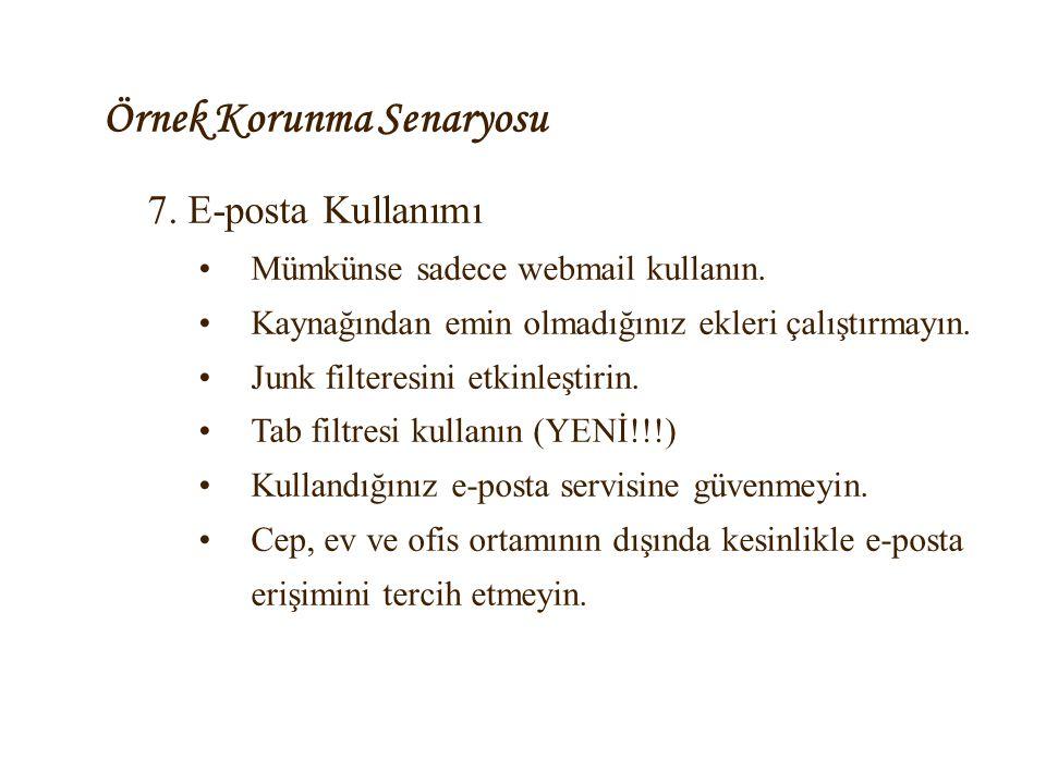 Örnek Korunma Senaryosu