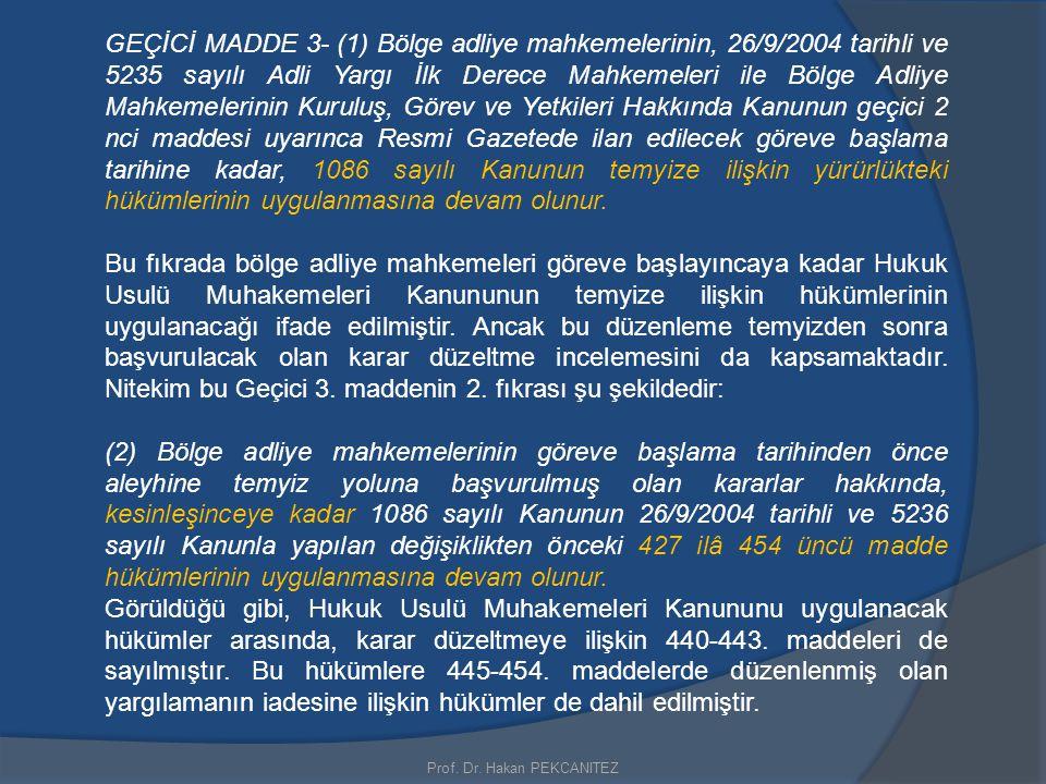 Prof. Dr. Hakan PEKCANITEZ